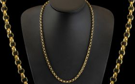 9ct Gold - Good Quality Belcher Chain. Fully Hallmarked for 9ct - 375.