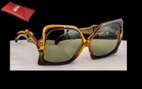 Christian Dior Solaires Miss Dior - Signed Iconic Pair of Oversized Optyl Ladies Sunglasses From