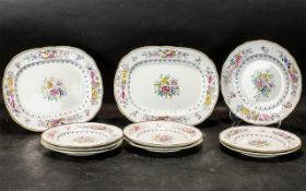 Collection of Handpainted Victorian Plat