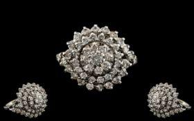 18ct White Gold - Magnificent Diamond Se