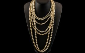 Collection of Faux Pearls, four necklace