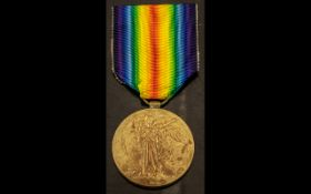 WWI Allied Victory Medal, 13376 PTE W. R