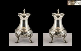 George V - Superior Pair of Sterling Sil