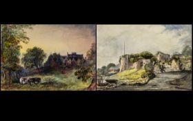 English School 19th Century - A Pair of
