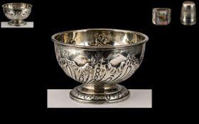 Late Victorian Period Sterling Silver Em