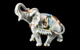 Porcelain Figure of an Elephant with tru