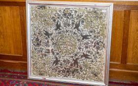 Ottorman 18th Century Large Silk Embroid