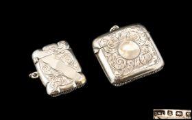 Antique Period Sterling Silver Vesta Cas