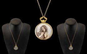 Antique Period Attractive 9ct Gold Mount