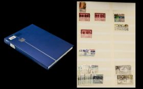 Blue 16 Page Stock book of Stamps from C