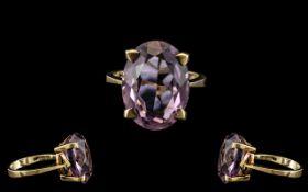 Ladies Attractive 9ct Gold Single Stone