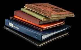 Black Carrier Bag Full of Stamp Albums a