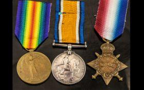 WWI Medal Trio, 3147 DVR E. BUTLER RFA.