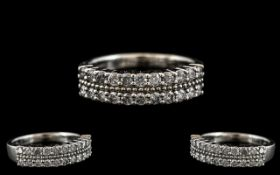 18ct White Gold Attractive Diamond Set H