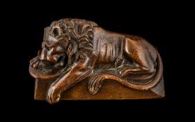 Antique 'Grand Tour' Carved Wood 'Medici