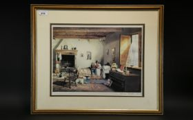 """Larry Rushton Signed Framed Print, pencil signed to bottom right 309/850. Measures 16"""" x 12""""."""