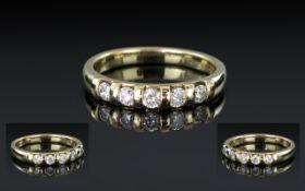 Ladies 18ct Yellow Gold Diamond Set Half Eternity Ring, fully hallmarked for 750 - 18ct,