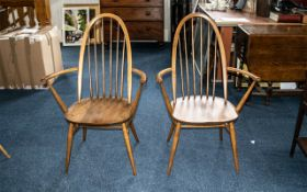 Two Ercol Carver Chairs of Typical Form
