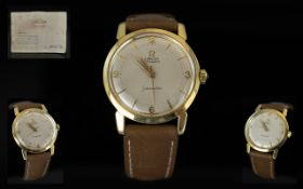 Omega - Seamaster Signed 1960's 18ct Gold Automatic Gents Vintage Wrist Watch,