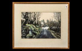 Watercolour & Pencil by Jane Carpanini Ty-du Road, Llanberis, Wales.