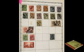 Really Nice ' Abbey ' Stamp Album. Lots of Old and Interesting Stamps. Noted 5?-GB. Seahorse.