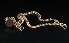 Victorian Period Superb 9ct Gold Double Albert Watch Chain,