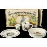 Peter Rabbit Nursery Set by Wedgwood ( Boxed ) Bowl, Mug and Egg Cup Enclosed ( 3 ) In Total.