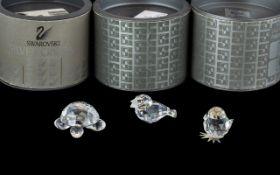 Swarovski Interest. Small Swarovski Turtle In Original Box, ART 7632 NR 030, No Chips etc, No