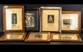 A Collection of Six Antique Prints Framed and Glazed depicting figures,