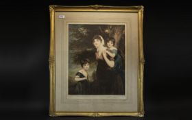 Mezzotint of Lady Anne Culling and Children by Eugene Tilly,