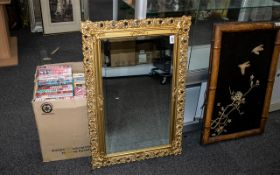 Bevelled Glass Over Mantel Mirror with Gilt Frame - Rococo Florentine Style.