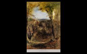 Bernard Walter Evans RI RBA (1843 - 1922), Fine Watercolour Drawing, titled 'In Windsor Park',