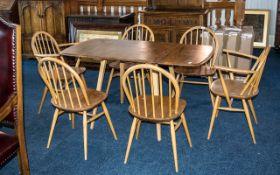 Set of 6 Ercol Golden Dawn Windsor Hoop Back Chairs,