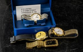 A Gentleman's Rotary Bracelet Watch, electro-gold plated, Model No. 4864, Roman numerals, date,