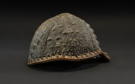 Antique African Tribal Child's Crocodile Hat,