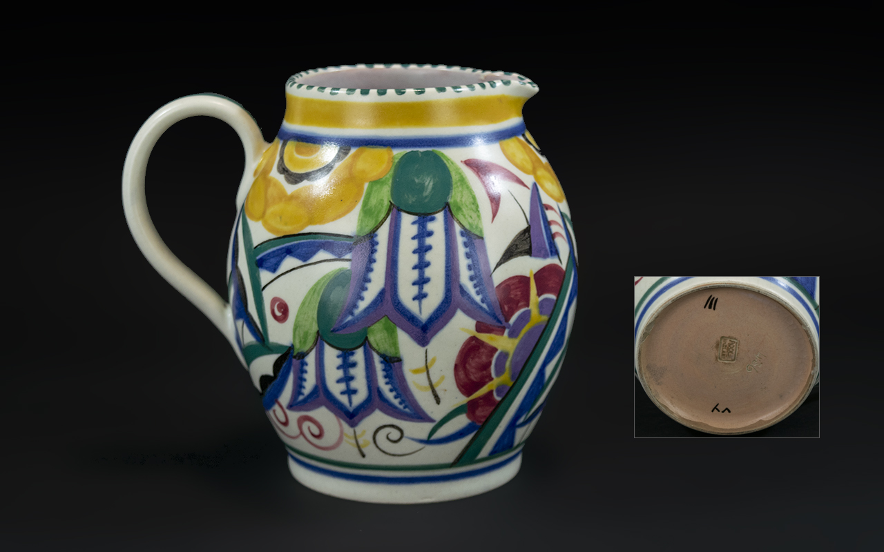 A Poole Pottery Carter, Stabler & Adams Jug, designed by Truda Adams, impressed mark to base.