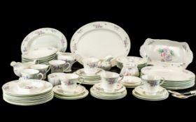 Aynsley 'Little Sweetheart' Dinner/Tea Service, comprising: Large Platter, 7 x 10'' Dinner Plates, 8