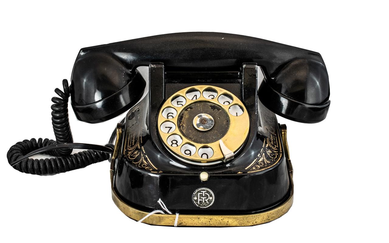 Belgium Dial Bakelite Telephone, marked 'Bell Telephone MFG Company',