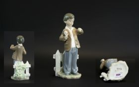 Nao by Lladro Hand Painted Porcelain Figure 'She's Late - 1st Date', model no.1278, 10.25 inches (