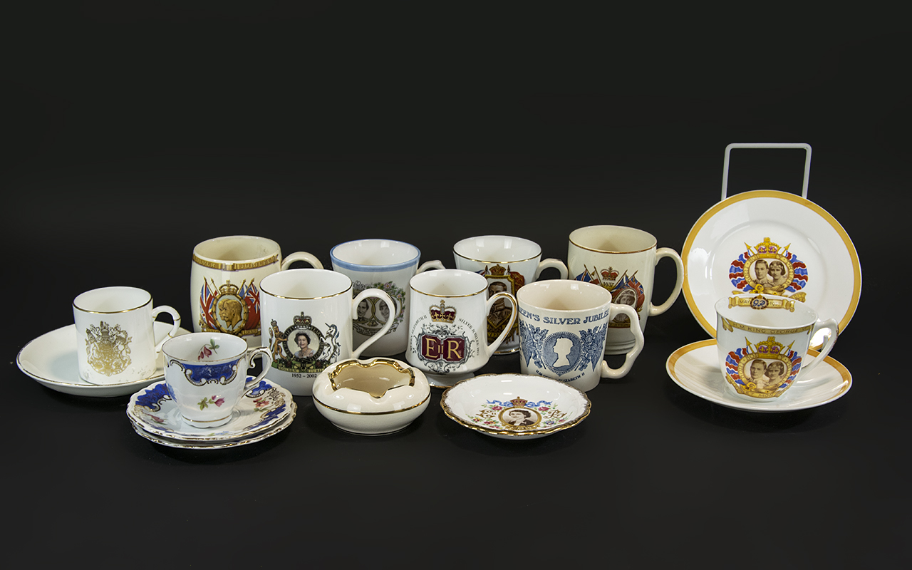 Collection of Royal Memorabilia Porcelain, comprising a mug from the intended coronation of Edward