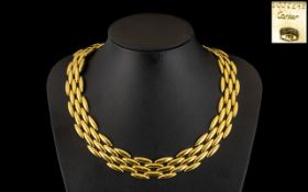 Cartier - An 18ct Gold Gentiane Collecti