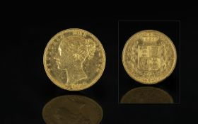 Queen Victoria 22ct Gold - Young Head Sh