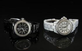 Chanel Pair of Fashion Copy Ladies J12 S