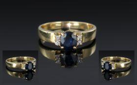 Ladies 14ct Gold Contemporary Diamond an