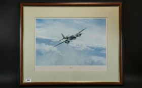 Large Print of 'Mosquito' Plane, mounted