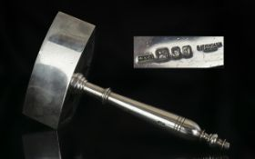 Masonic Interest Solid Silver Mallet of