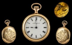 Elgin National Watch Co Gold Filled Ladies Pocket Watch.