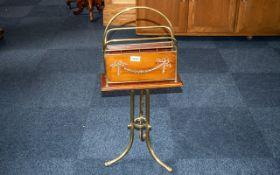 Edwardian Brass Mounted and Framed Magaz