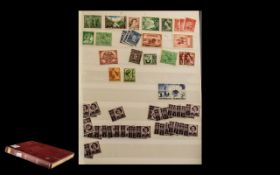 Red 16 Page A4 Stock book of Stamps from