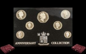 Royal Mint Proof Set 1996, in solid silver,